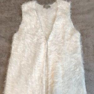 Joan Vass Fuzzy Vest Sz M